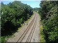 TQ1148 : Railway lines, Abinger Hammer by David Howard