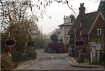 TQ2151 : Level Crossing, Betchworth, Surrey by Peter Trimming