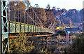 NN9457 : Iron Suspension Bridge, Pitlochry by David Dixon