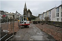SS5247 : The forecourt of the Church of St. Philip and St. James gets a makeover by Roger A Smith