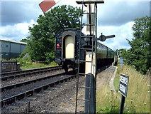 TQ4023 : Bluebell Railway, Train departing from Sheffield Park by Helmut Zozmann