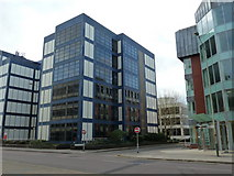 SU1585 : Office block, junction of Gloucester Street and Milford Street, Swindon by Ruth Sharville