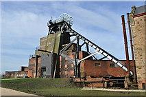 SK4964 : Pleasley Colliery - South Shaft by Ashley Dace