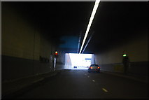 TQ7569 : Exiting the Medway Tunnel by N Chadwick