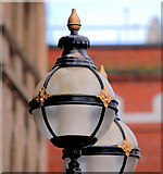 J3474 : Former Ulster Bank lamp standards, Belfast (2) by Albert Bridge