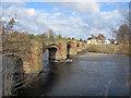 SJ3845 : Bangor-is-y-coed/Bangor-on-Dee old bridge by John S Turner