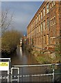 SO8376 : River Stour by Castle Spinning Mills, Kidderminster by P L Chadwick