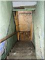 TG1403 : Planet Farm, Hethersett - well used wooden steps by Evelyn Simak