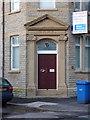 SD6321 : Former bank on Railway Road, Brinscall, Doorway by Alexander P Kapp
