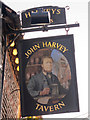TQ4110 : John Harvey Tavern sign by Oast House Archive
