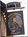 TQ4110 : John Harvey Tavern sign by Oast House Archive