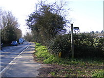 TM2750 : A1152 Woods Lane & bridleway to Valley Farm Road by Adrian Cable