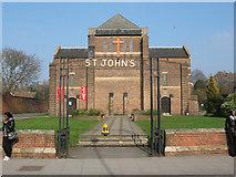 TQ3871 : St John's church - signage by Stephen Craven