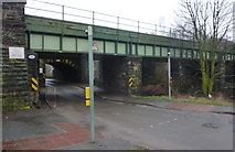 SK3871 : Railway bridges north of Chesterfield station by Andrew Hill