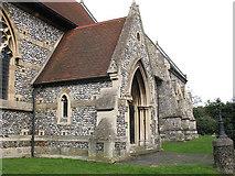 TQ2565 : All Saints church, Benhilton: south porch by Stephen Craven