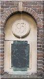 TF0920 : BUC almshouses, West street - dedication niche by Bob Harvey