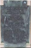 TF0920 : BUC almshouses, West street - dedication Plaque by Bob Harvey