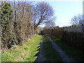 TM3968 : Footpath to the A12 Brook Street, Littlemoor Road & North Green by Adrian Cable