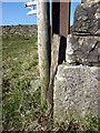 SD6188 : Bench mark, barn corner at Aikrigg by Karl and Ali