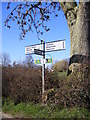 TM3771 : Roadsign on Sibton Green by Adrian Cable