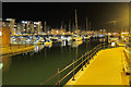 TQ6401 : Sovereign Harbour at night by Oast House Archive
