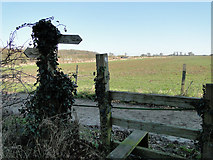 TM4160 : Footpath sign and stile at Friston, Suffolk by Adrian S Pye