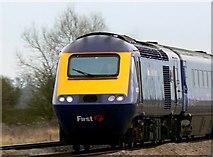 SU2487 : HST 125 (High Speed Train) going west near Shrivenham by Brian Robert Marshall