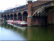 SJ8297 : Bridges at Castlefield Basin by Thomas Nugent