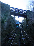 SS7249 : Ascending the cliff railway, Lynmouth by Roger Cornfoot