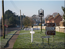 TQ8115 : Signs at Wheel Lane junction by Oast House Archive