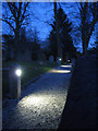 SP1671 : Low-level lighting, Lapworth churchyard by Robin Stott
