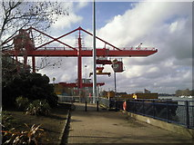 TQ2575 : Western Riverside Transfer Station, Wandsworth by Marathon