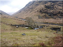 NN2218 : Sheepfolds and a sheepdip at Inverchorachan by Richard Law