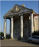 TQ3770 : Portico, Beckenham Place Park Golf Clubhouse by Julian Osley