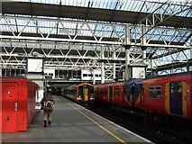 TQ3179 : Waterloo station platform 5 by David Smith