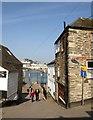 SX1250 : Lane to the Quay, Polruan by Derek Harper