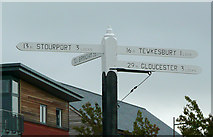 SO8453 : Signpost at Diglis Locks, Worcester by Roger  Kidd