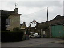 ST8993 : Tetbury, pub sign by Mike Faherty