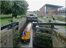 SO8453 : Diglis Bottom Lock at Worcester by Roger  Kidd