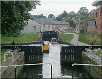 SO8453 : Diglis Broad Locks in Worcester by Roger  Kidd