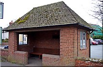 SJ5409 : Bus shelter on the B4380 road at Atcham by P L Chadwick
