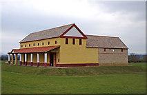 SJ5608 : Wroxeter Roman City (11) - The replica Villa Urbana by P L Chadwick