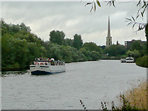 SO8453 : River Severn north of Diglis by Roger  Kidd