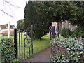 TM2653 : Footpath to Caters Road & Scott's Lane  & entrance to St.Andrew's Church by Adrian Cable