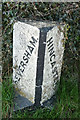 SD5183 : Boundary stone between Heversham and Hincaster parishes by Karl and Ali