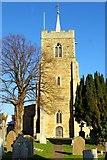 TL3677 : Church tower of St John the Baptist, Somersham by Tiger