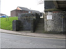 SD8912 : Rochdale:  Remains of a urinal, Milkstone Road by Dr Neil Clifton