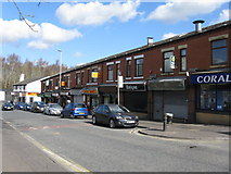 SD8912 : Rochdale:  Shops on Milkstone Road by Dr Neil Clifton