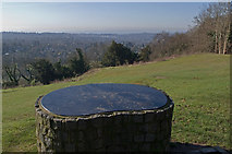 TQ2652 : View indicator, Reigate Hill by Ian Capper