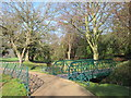 TQ8110 : Footbridge at Alexandra Park by Oast House Archive